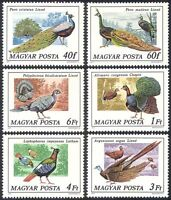 Hungary 1977 Peacock/Pheasant/Birds/Nature/Peafowl/Wildlife 6v set (n39860)