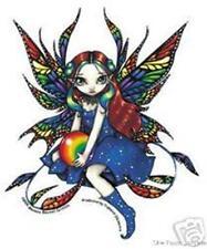 RAINBOW FAIRY BUMPER STICKER LESBIAN GAY PRIDE