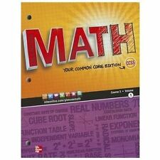 Glencoe Math, Your Common Core Edition (Course 3, Volume 1), Carter, Cuevas, Day