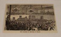 1876 magazine engraving ~ CHAMBER OF DEPUTIES, Berlin, Germany