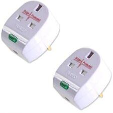 2 X Anti Spike / protección contra sobretensiones Uk Plug Top - 13 Amp wireable extensión Enchufes