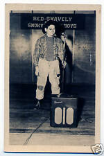 Red Swavely w Amp & Microphone RPPC Postcard