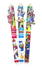 Mickey Mouse Friends Donarld  Goopy Ball Point Pen 3pc Set Black Ink Refillable