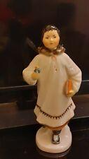 LOMONOSOV Vintage  USSR Eskimo Girl Figurine Inuit