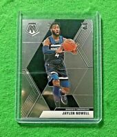 JAYLEN NOWELL SILVER CHROME ROOKIE CARD JERSEY#4 TIMBERWOLVES 2019 PANINI MOSAIC