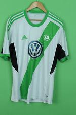 VINTAGE ADIDAS WOLFSBURG FOOTBALL JERSEY SHIRT TRIKOT GERMANY 2013/2014 XL