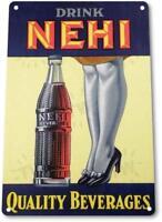 NEHI Cola Beverages Vintage Retro Tin Metal Sign