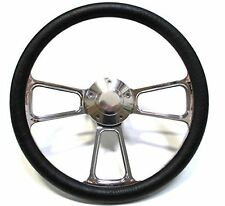 1979-1981 Dodge Truck, Van Chrome and Black Steering Wheel, Full Install Kit