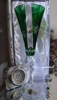 2012 *NIB* WATERFORD SNOWFLAKE WISHES COURAGE EMERALD FLUTE 2nd EDITION #154362