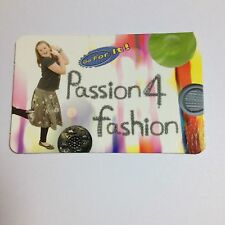 Girl Guiding badge Go for it Passion 4 Fashion card