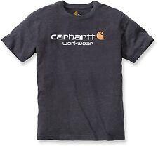 Carhartt 101214 Core Logo Short Sleeve T-Shirt Mens New Tee  Black Blue or Grey
