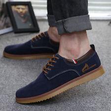 Hombre Zapatos Gamuza Cuero Casual Sneakers Con Cordones Mocasines Deporte Shoes