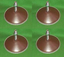 Set of 4 Brown Metal Pool table feet Football Snooker Hockey Games leveller legs