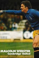 Football Photo>MALCOLM WEBSTER Cambridge United 1982-83