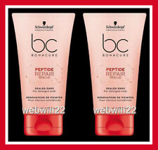 2pc SCHWARZKOPF BC Peptide Repair Rescue sealed ends 75ml damaged hair treatment