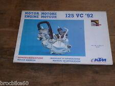 MANUEL REVUE TECHNIQUE D ATELIER MOTEUR KTM 125 VC 1992 -> REPAIR MANUAL ENGINE