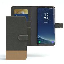 Tasche für Samsung Galaxy S8 Plus Jeans Cover Handy Schutz Hülle Anthrazit