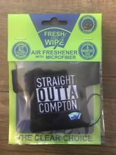 Fresh And Wipe Auto Air Freshener With Screen Cleaner Black Cherry Scent