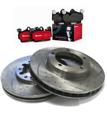 SLOTTED DIMPLED Front 320mm BRAKE ROTORS & BREMBO PADS FORD FOCUS XR5 06~11  2.5