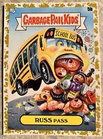2020 GPK Garbage Pail Kids Late to School GOLD 5B RUSS PASS 08/50