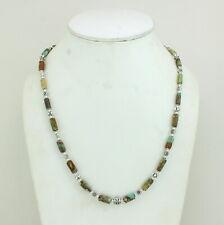 Necklace Natural Antique Tibetan Turquoise Gemstone Handmade Beaded Jewelry 22 G