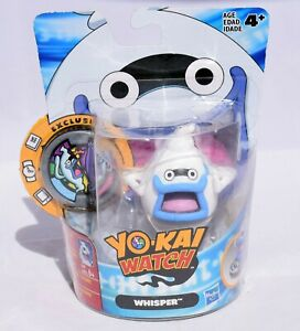Yo-Kai Watch - Whisper Figure with Exclusive Whisper Medal - New