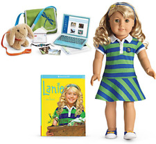 American Girl LANIE DOLL + ACCESSORIES LOT Laptop Bracelet Bag Meet Outfit BOX!