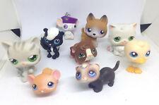 lot de 8 figurines HASBRO chats 2004 2005 + 1 porte clés