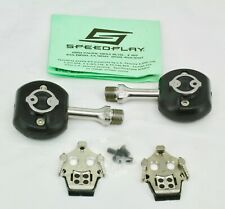 Speedplay Frog Pedals, stainless extended shaft length  with new G3 cleats