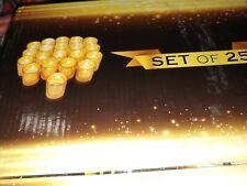 Granrosi Gold Mercury Votive Candle Holder Set of 25 - Made of Mercury Glass ...