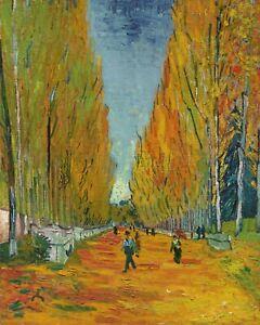 Poster Arte I CAMPI ELISI Les Alyscamps Vincent Van Gogh Impressionismo Arles