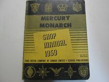 1959 Ford Mercury & Monarch Service Shop Repair Manual OEM 1959 Book CDN