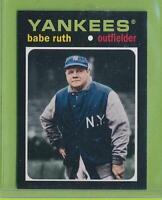 2013 Topps Update Mini 1971 Design - Babe Ruth (TM-2)  Yankees