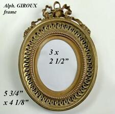 "Superb Antique Bronze Frame, Bow Top, 5.75"" Bow Top, Alph. GIROUX, Paris"