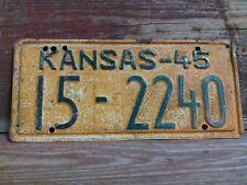 1945 Vintage Atchison County Kansas Tag