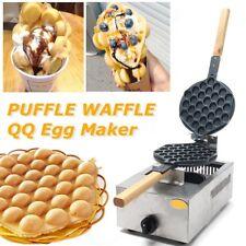 Electric Rotating Eggettes Cake Maker Machine Egg Bubble Waffle Baking Pan Iron