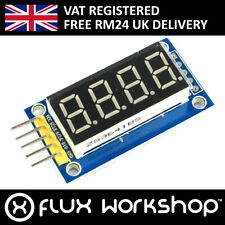 4 Digit Red 7 Segment Serial LED Module TMHC74HC595 4-bit Arduino Flux Workshop