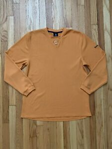 Chicago Bears NFL Apparel Reebok Long Sleeve T-Shirt Men's Size XL Orange VTG