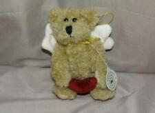 Boyds Bears Plush Ariel Angel Bear Ornament with Heart 6""