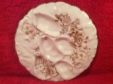 Antique Limoges Turkey Design Oyster Plate c.1800's, op298