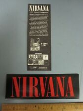 Nirvana 2006 live!tonight!sold out! promotional sticker Flawless New Old Stock