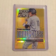 2013 Panini Draft Picks Prizm Gold Vers CLINT FRAZIER #105 RC 09/10 MADE Yankees