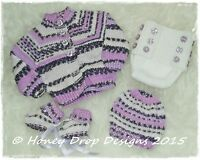 Honeydropdesigns BREEZE * PAPER KNITTING PATTERN * Reborn/Baby 8-20 Inch Chest