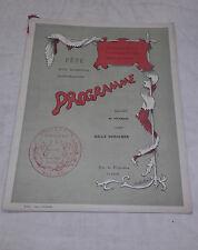 Programme - Association générale des étudiants de Poitiers - 20 décembre 1897