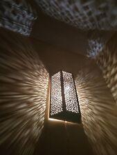Wall Light Brass Fixture Moroccan Handmade engraved - Antique Brass Lights