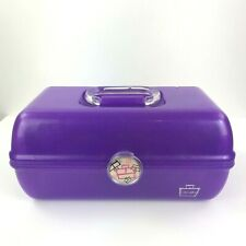 CABOODLES Vtg Purple 90s 2 Tier Makeup Cosmetic Carry Case w/ Mirror USA