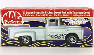 MAC TOOLS 1957 DODGE STEPSIDE PICKUP STREET ROD TRUCK TONNEAU COVER DIECAST BANK