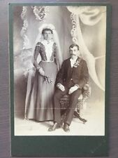 CABINET Card Wedding Photo By SAND'S Husband And Beautiful Bride