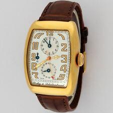Dubey & Schaldenbrand 18K Gold Aerodyn Duo GMT Automatic Watch 33x43mm B/P