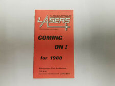 Albuquerque Lasers 1980 IVA Pro Volleyball Pocket Schedule - Coors